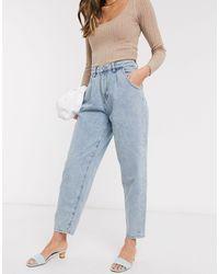Mango Ruimvallende Jeans - Blauw