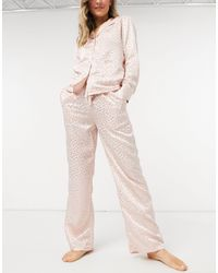 Liquorish Nightwear Jacquard Pyjama Bottoms - Pink