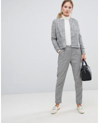 Y.A.S - Jekky Check Tailored Pants - Lyst