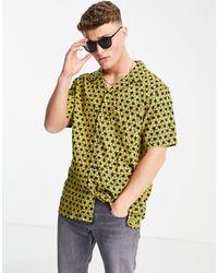 Levi's Ярко-желтая Рубашка С Коротким Рукавом И Принтом Тай-дай Cubano-желтый