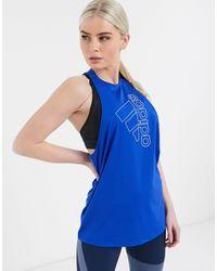 adidas Originals - Синяя Майка С Логотипом Adidas Training-голубой - Lyst
