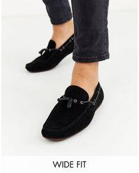 ASOS Wide Fit Driving Shoes - Black
