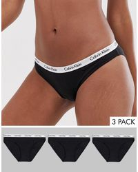 Calvin Klein Комплект Из 3 Трусиков Carousel-мульти - Черный