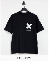 Collusion Черная Футболка С Логотипом Unisex-черный Цвет