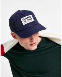 GANT Cap With Crest Square Logo - Blue