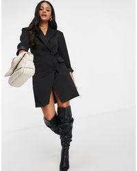 Naanaa Черное Платье-блейзер -черный