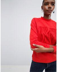 SELECTED - Zelma Flocked Print Sweatshirt - Lyst