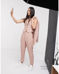 ASOS exaggerated Tapered Suit Pants - Multicolor