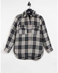 River Island Куртка-рубашка В Черно-белую Клетку -черный Цвет