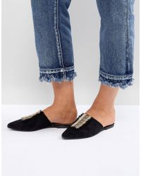 Glamorous Point Mule - Black
