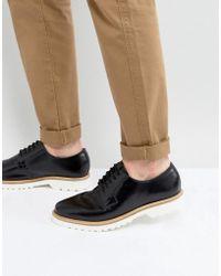 Ben Sherman - Hi Shine Derby Shoes In Black Leather - Lyst
