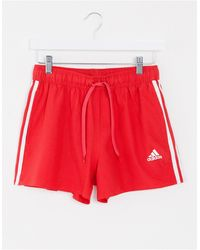 adidas Originals Красные Шорты Для Плавания С 3 Полосками Adidas-красный