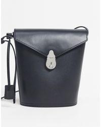 Calvin Klein Bolso bombonera negro con detalle