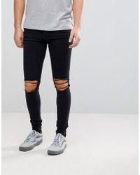 Dr. Denim - Leroy Wrecking Black Skinny Jeans - Lyst