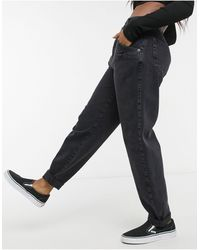 Pull&Bear Slouch Fit Jeans - Black