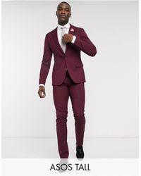 ASOS Tall - Bruiloft - Skinny Pantalons - Rood