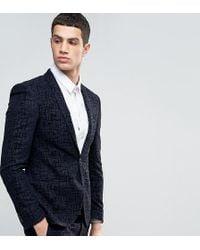Noak - Super Skinny Suit Jacket With Flocking - Lyst