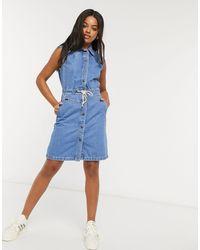Lee Jeans Lee Drawstring Dress - Blue