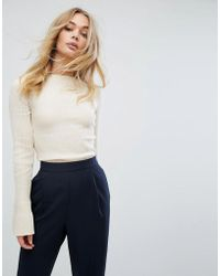 Oasis - Ribbed Fluted Sleeve Jumper - Lyst