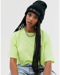 Fiorucci Beanie With Embroidered Logo - Black