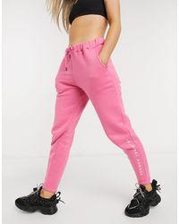 Criminal Damage Oversized joggers - Pink