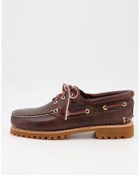 Timberland Authentic - chaussures bateau classique 3 œillets - moyen - Marron