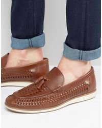Red Tape Woven Tassel Loafers - Brown
