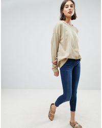 WÅVEN Freya Mid Rise Skinny Jeans - Blue