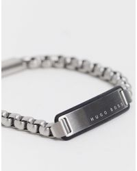 BOSS by Hugo Boss Hugo Chain Bracelet With Id Tag - Blue