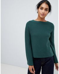 Oasis - Bell Sleeve Compact Knitted Jumper In Green - Lyst