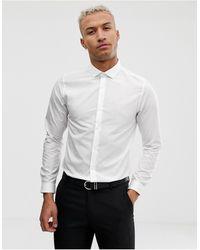 Burton Белая Рубашка Скинни -белый
