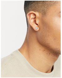 Classics 77 Triangle Stud Earrings With Turquoise Stone - Metallic