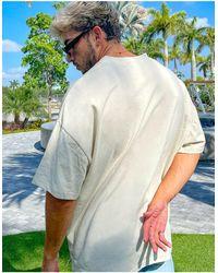 ASOS Camicia oversize a maniche corte - Neutro