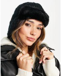Urbancode Trapper Faux-fur Hat - Black