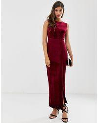 Closet Closet - Vestito a portafoglio drappeggiato - Rosso