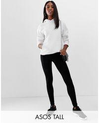 ASOS Asos Design Tall High Waisted leggings - Black