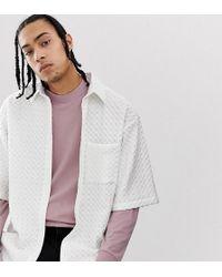 Noak Oversized Textured Seersucker Shirt In White