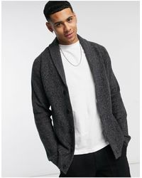 Hollister Shawl Knit Cardigan - Gray