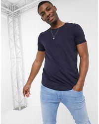 Esprit - Camiseta larga azul marino - Lyst