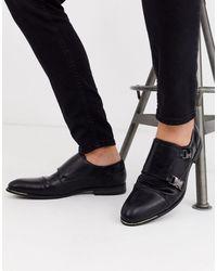 River Island Monk Shoe - Black