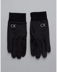 Calvin Klein Черные Перчатки -черный