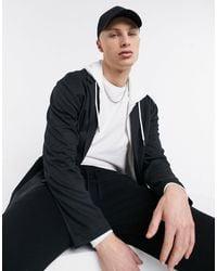 ASOS Dropped Shoulder Oversized Soft Tailored Jersey Blazer - Grey