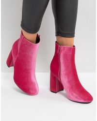 Truffle Collection - Curved Heel Boot - Lyst