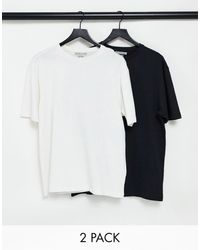 Another Influence Tall 2 Pack Boxy Oversized T-shirts - Multicolour