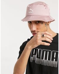 PUMA – anglerhut aus satin - Pink
