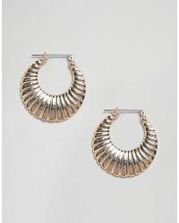 Pieces - Creole Hoop Earrings - Lyst