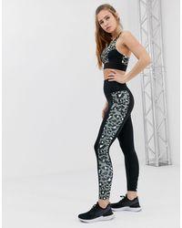 Wolf & Whistle Khaki Leopard Print Leggings - Green