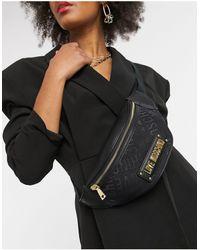 Love Moschino Черная Сумка-кошелек С Фактурным Логотипом -черный