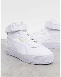 PUMA Белые Высокие Кроссовки Cali Sport-белый