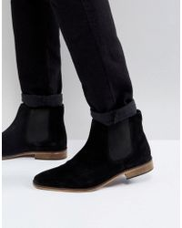 KG by Kurt Geiger Kg By Kurt Geiger Wide Fit Suede Chelsea Boots - Black